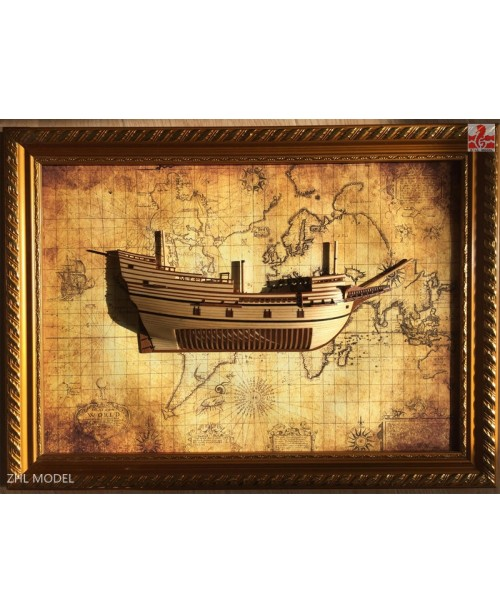 "Mayflower Section Scale 1/96 13.7"" Wooden Mod..."