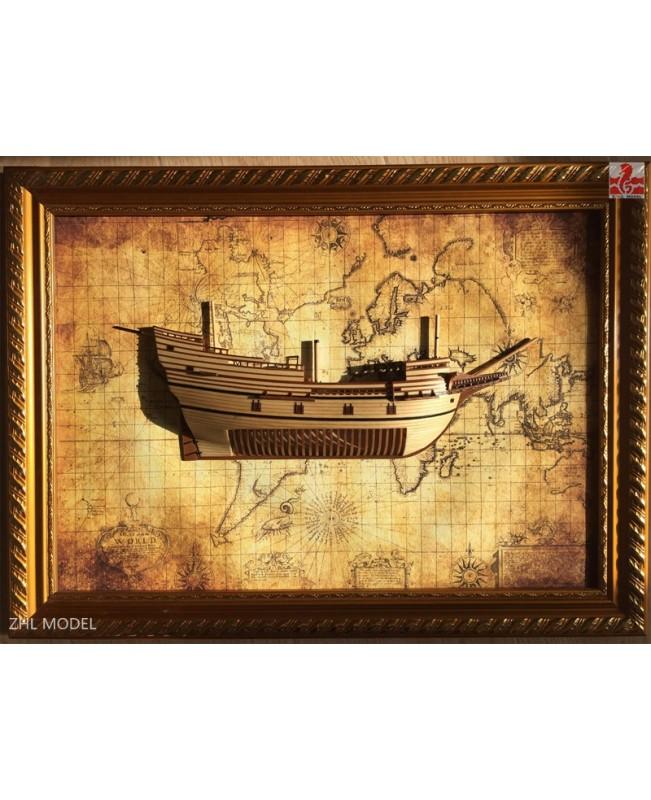 "Mayflower Section Scale 1/96 13.7"" Wooden Model Ship Kit"