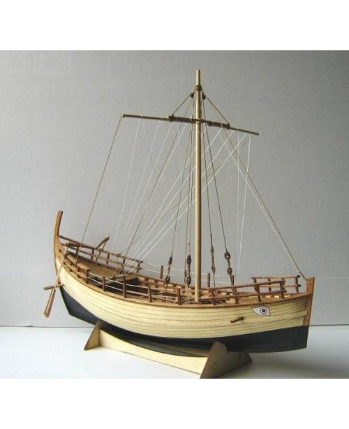 Greek Kyrenia 13.7'' 350 mm ancient trade boat woo...