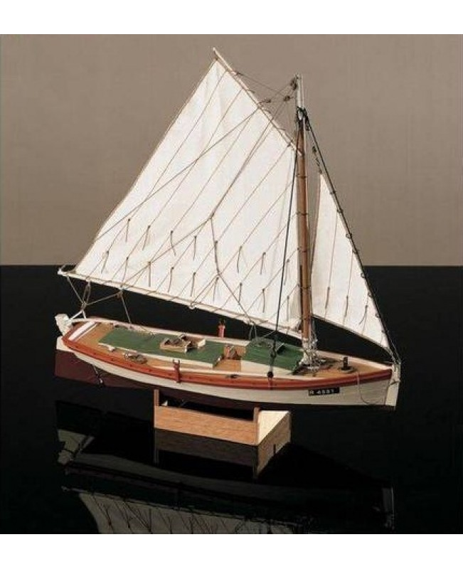 "Flattie - small version scale 1/35 L 7.8"" wooden model ship kit"