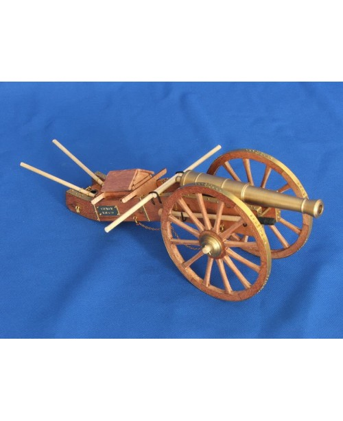 Cannon of napoleon's time wooden model kit