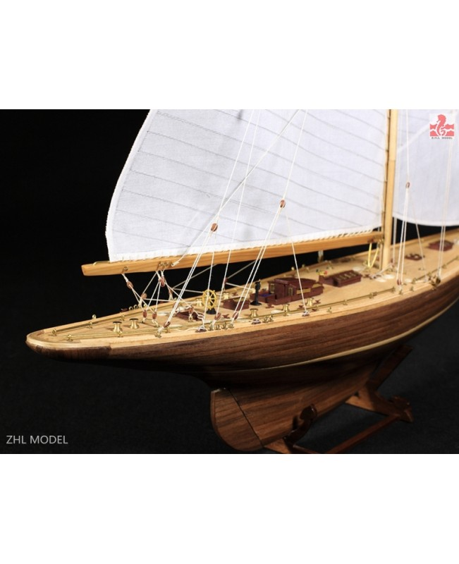 "Endeavour 1934 America's Cup J class yacht wooden model ship kit 18"" Sailboat"