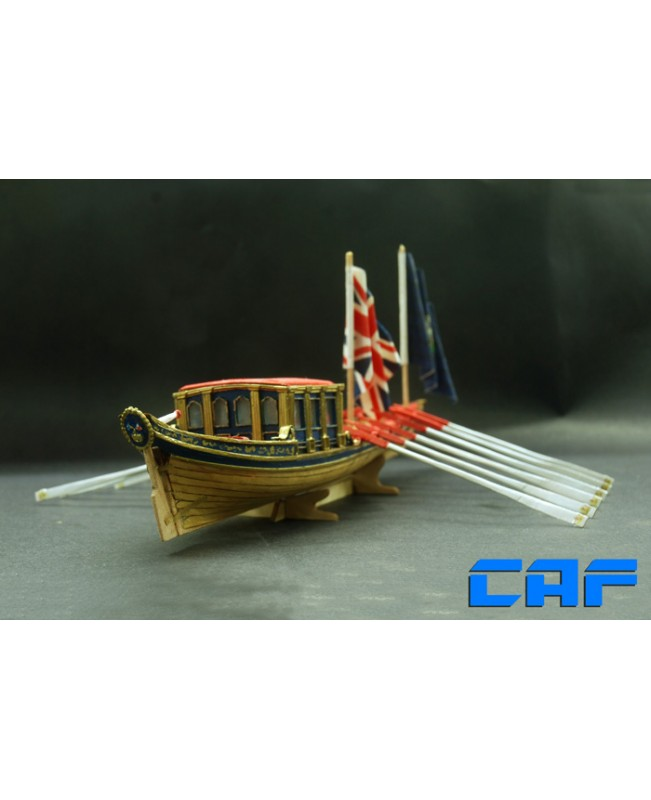 "HMS Barge Scale 1/48 10"" L 254mm royal British yacht"