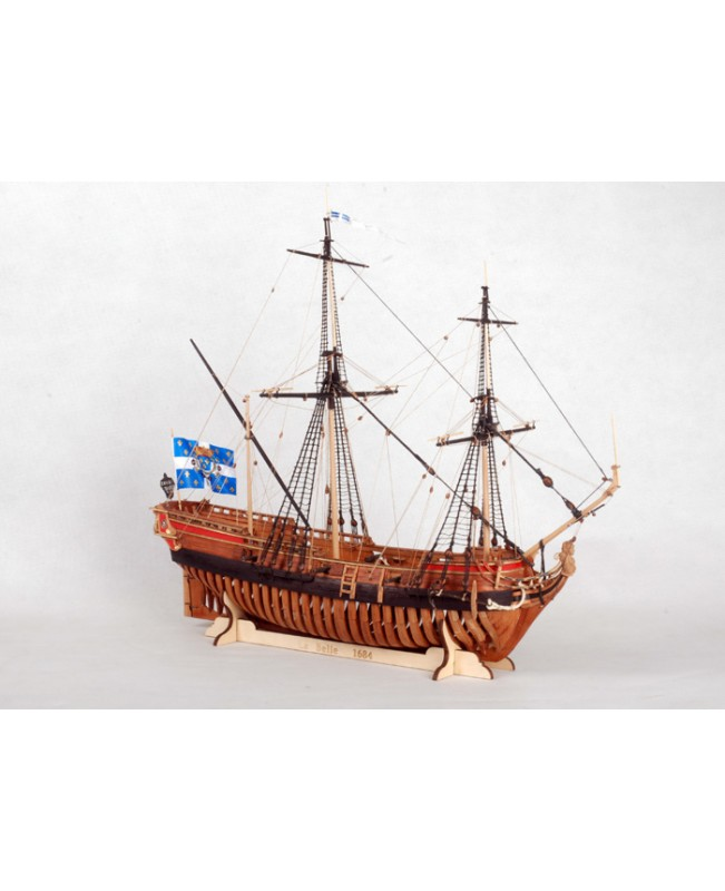 "La Belle 1684 Full Ribs Scale 1/48 450mm 17.7"" Wood Model Ship Kit"