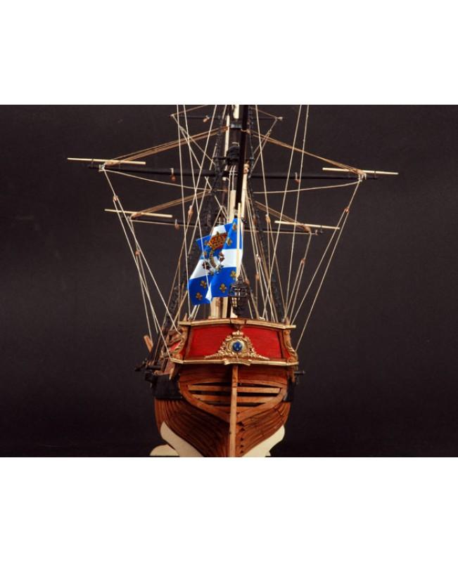 """La Belle 1684 Full Ribs Scale 1/48 450mm 17.7"""" Wood Model Ship Kit"""