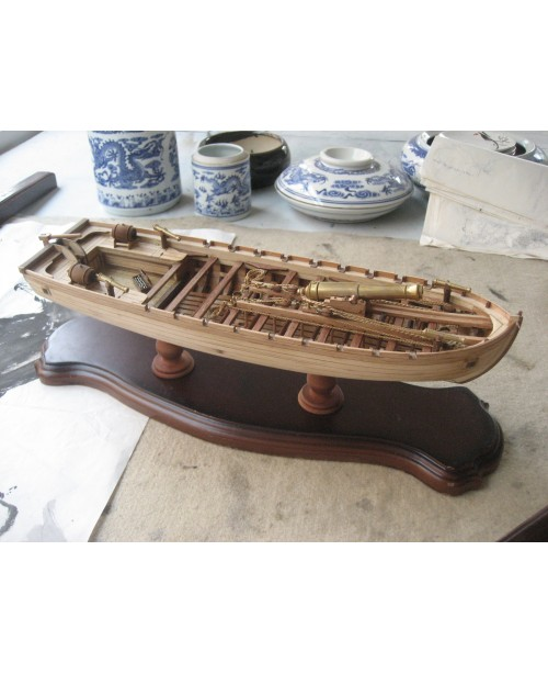 Chalupa 1834 L 14 inch 360 mm wooden ship model ki...