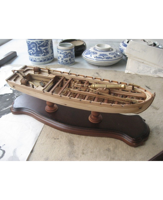 Chalupa 1834 L 14 Inch 360 Mm Wooden Ship Model Kits