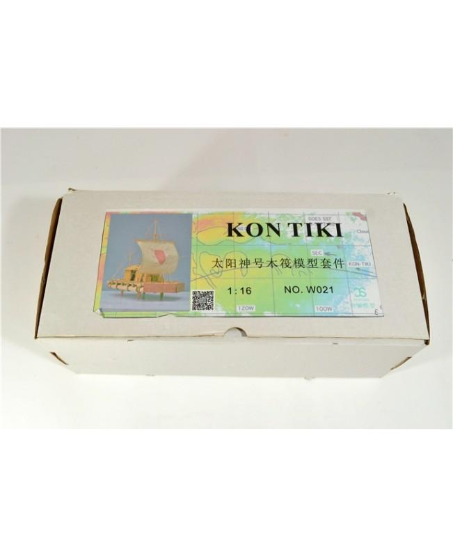 "Kon-Tiki Raft Scale 1/18 15.8"" Wood Model Ship Kit Model ship"