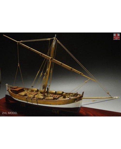 "LEUDO Scale 1/48 430mm 17"" Wood Ship Model Ki..."