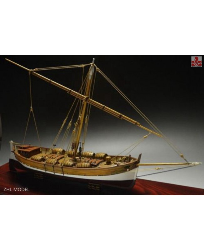 "LEUDO Scale 1/48 430mm 17"" Wood Ship Model Ki..."