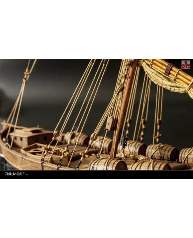 """LEUDO Scale 1/48 430mm 17"""" Wood Ship Model Kit Sailboat model kit"""