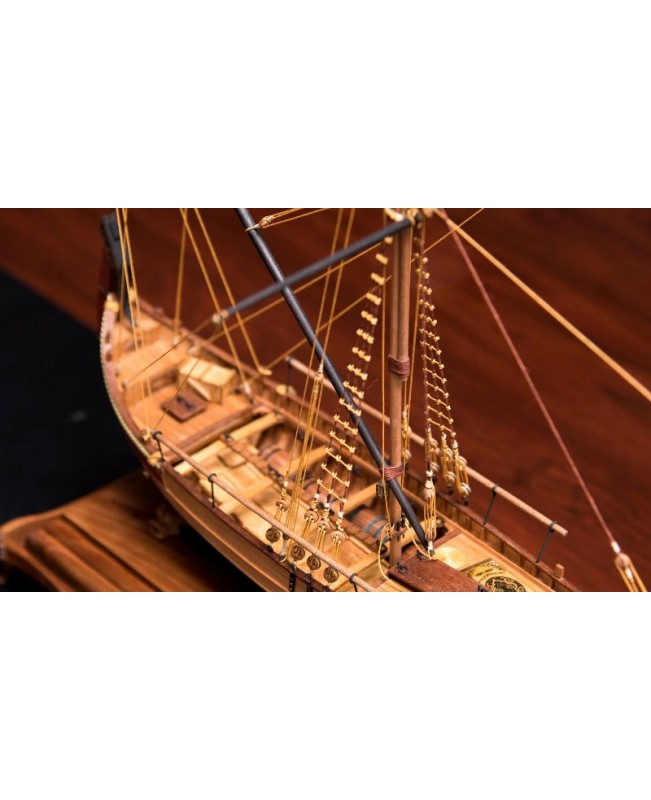 Marmara Trade Boat 17'' 1:48 Unassembly Wood model ship kit -Deluxe supply pack