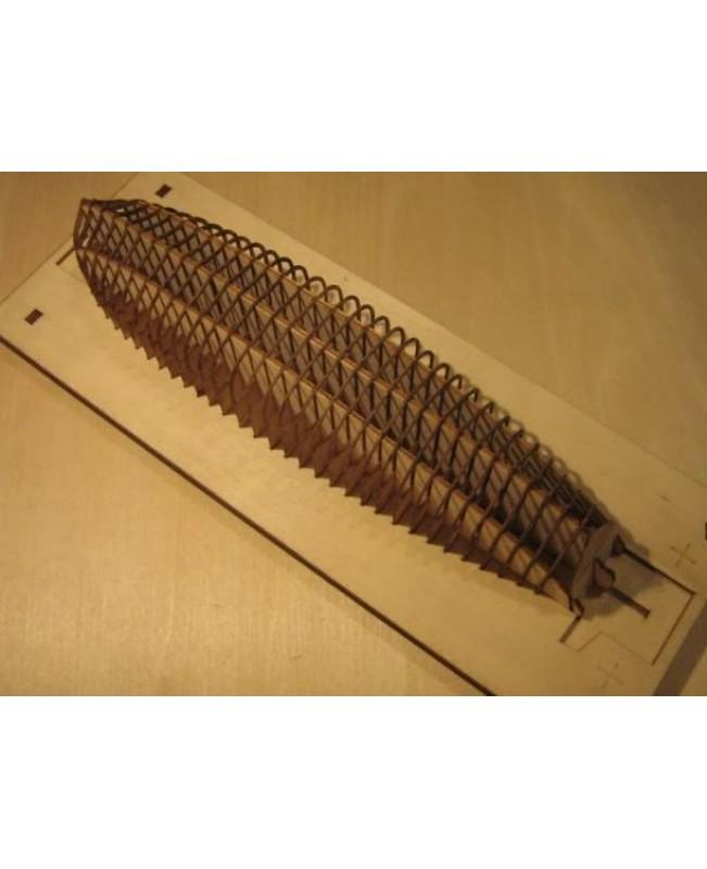 "Le requin Longboat Life Boat  Scale 1/48 L 242MM 9.5"" Wooden Model Ship kit"