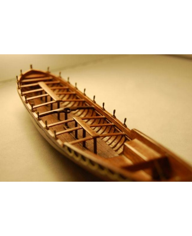 "Le requin Longboat Life Boat  Scale 1/48 L 242MM 9.5"" Wooden Model Ship kit"