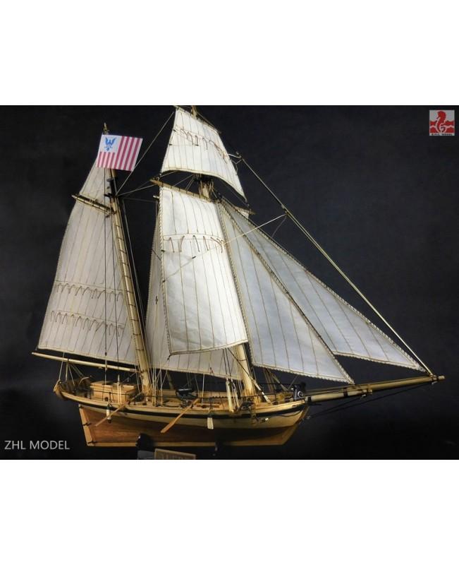 "Coastguard cutter Alert Scale 1/50 24"" Wooden Model Ship Kits"