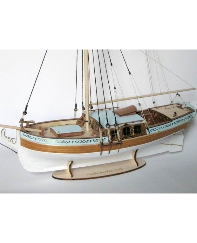 Yacht Sweden 1770 Sail Boat Scale 1/24 21'' 540 mm Wood Ship Model kit