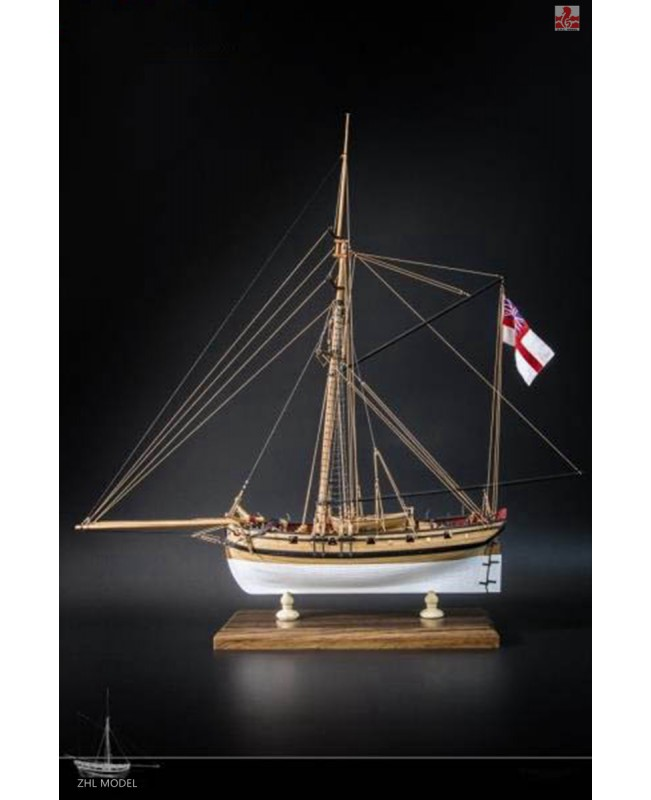 "H.M.S CUTTER LADY NELSON Scale 1/64 L 20.8"" Wood ship model kit"