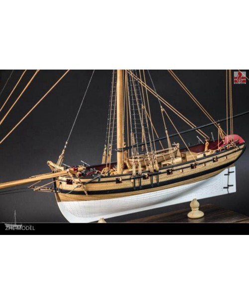 "H.M.S CUTTER LADY NELSON Scale 1/64 L 20.8"" W..."