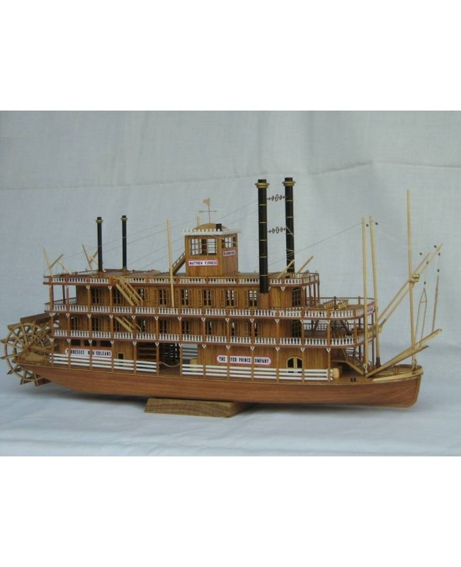 USS MISSISSIPPI 1870 Scale 1/100 21 inch wood ship model kit steamboat