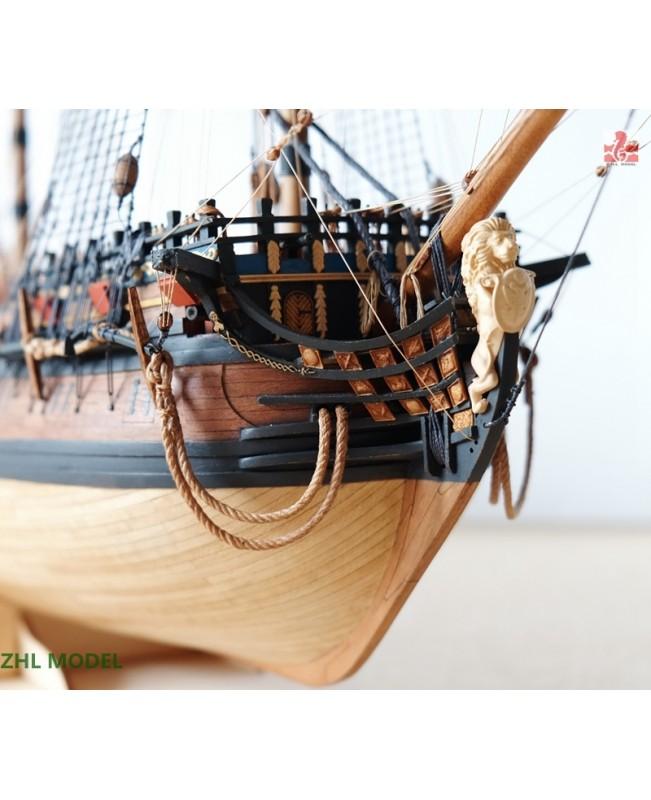 "INGERMANLAND 1715 Scale 1/96 650mm 25.5"" model ship kits"