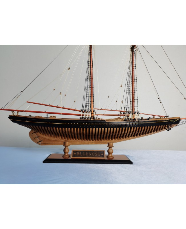 (Special offer)American cup Bluenose FULL RIB POF sailboat 1:72 730MM wooden ship model kit