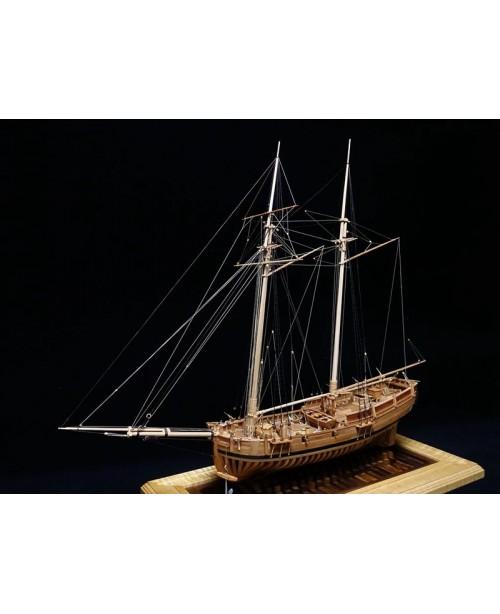 "USS Hannah POF model ship kit Scale 1/48 25.3""..."