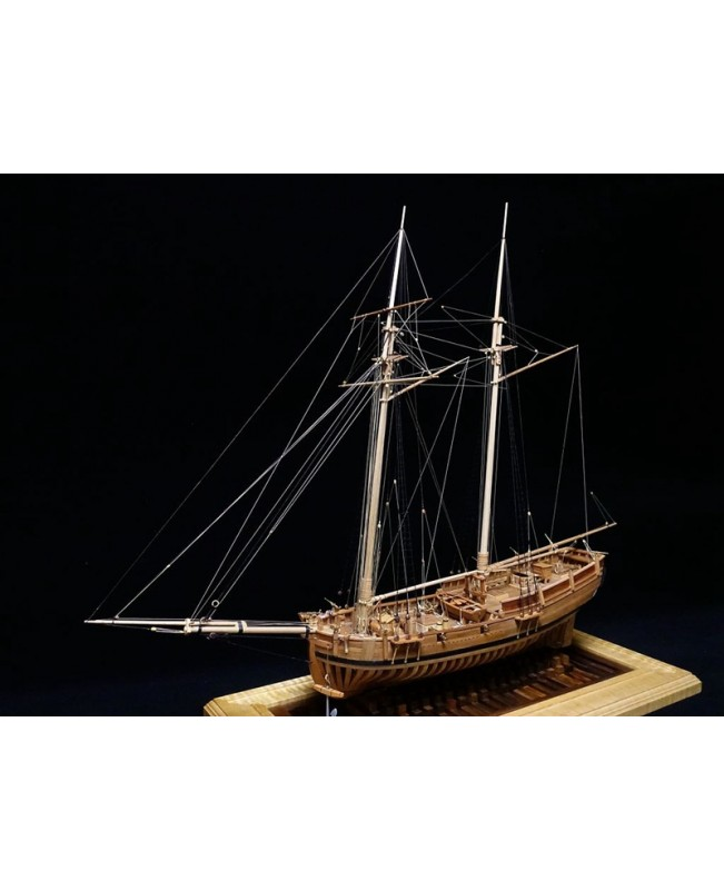 "USS Hannah POF model ship kit Scale 1/48 25.3"" wood model ship kit"