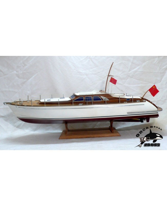 Simulation runabout high speed runabout boat model ship kits 26""