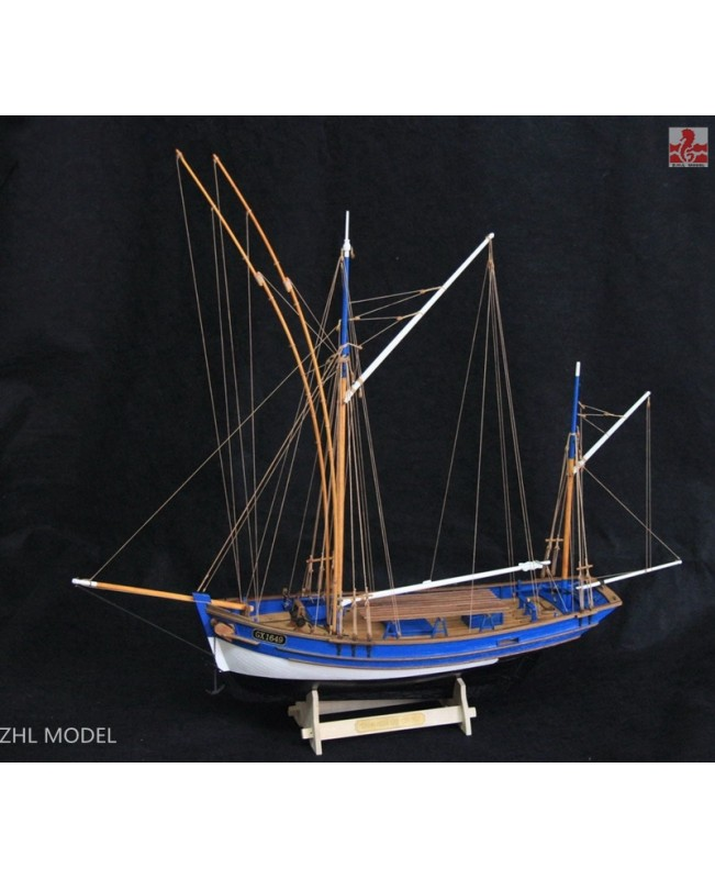 "San Gilthas France classic fish boat Scale 1/45 26"" Wooden Model Ship kits"