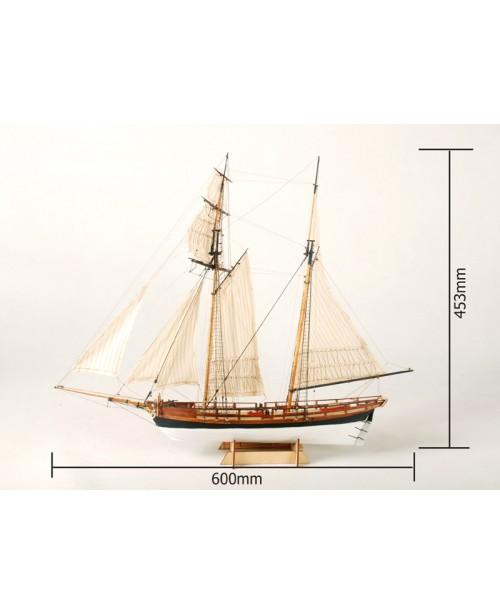 "La Jacinthe Scale 1/65 23.6"" Wooden Ship Model K..."