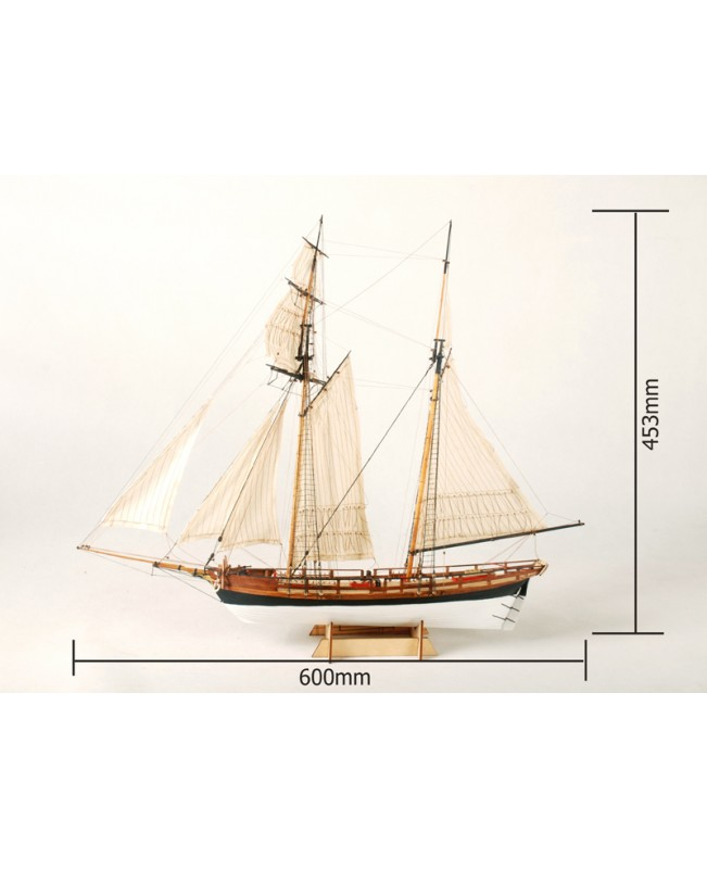 "La Jacinthe Scale 1/65 23.6"" Wooden Ship Model Kit Wood Sail Boat"