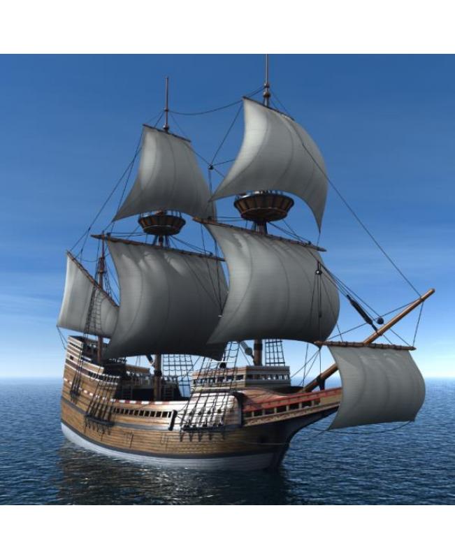 "Mayflower 2016 Version Scale 1/48 31"" Wood Model Ship Kit Sailboat"