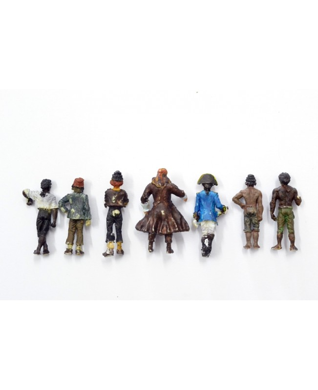 7 pieces puppets-Pirates of the Caribbean(The Black Pearl Golden Version 2019)
