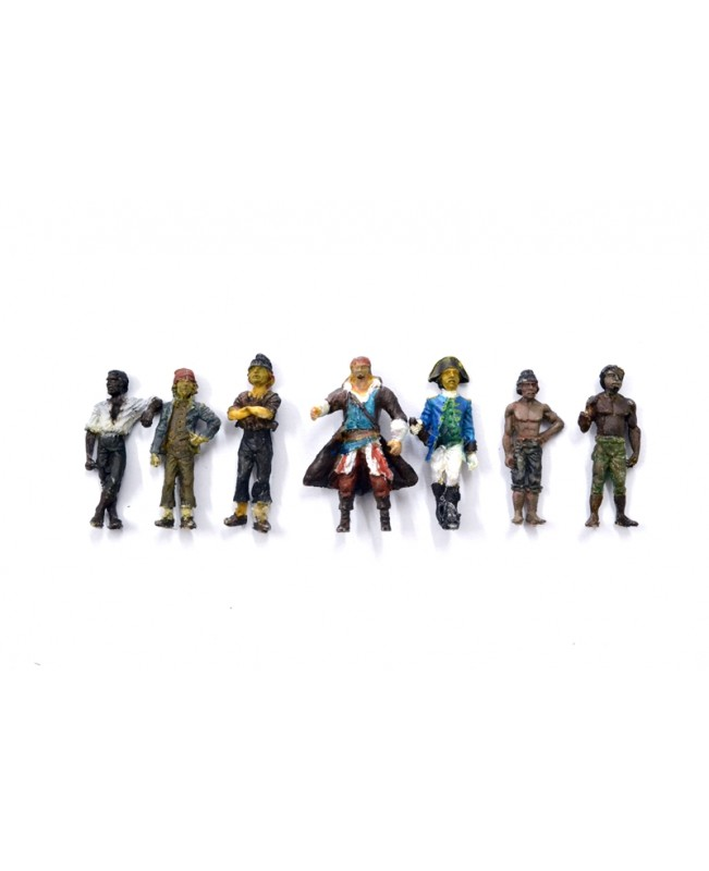 7 pieces puppets-Pirates of the Caribbean(The Bl...