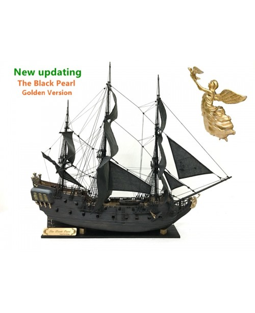 The black Pearl Golden version 2021 wood model shi...