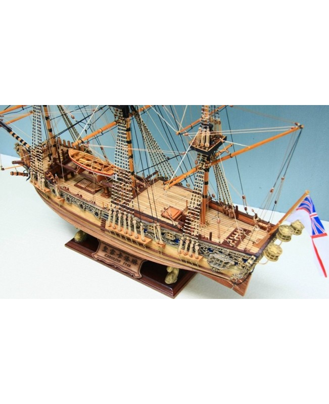 HMS Royal Caroline 1749 Scale 1/50 33'' Wooden Shi...
