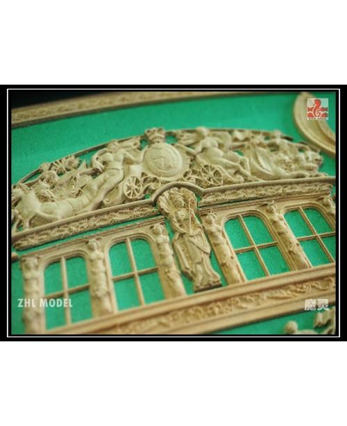 HMY Royal Caroline 1749 Pear wood Carving pieces o...