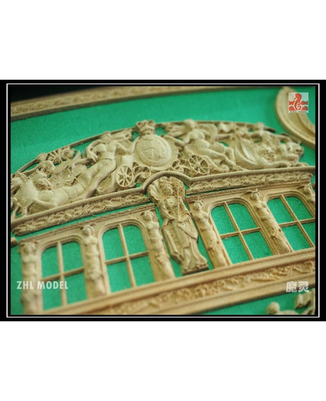 HMY Royal Caroline 1749 Pear wood Carving pieces o...