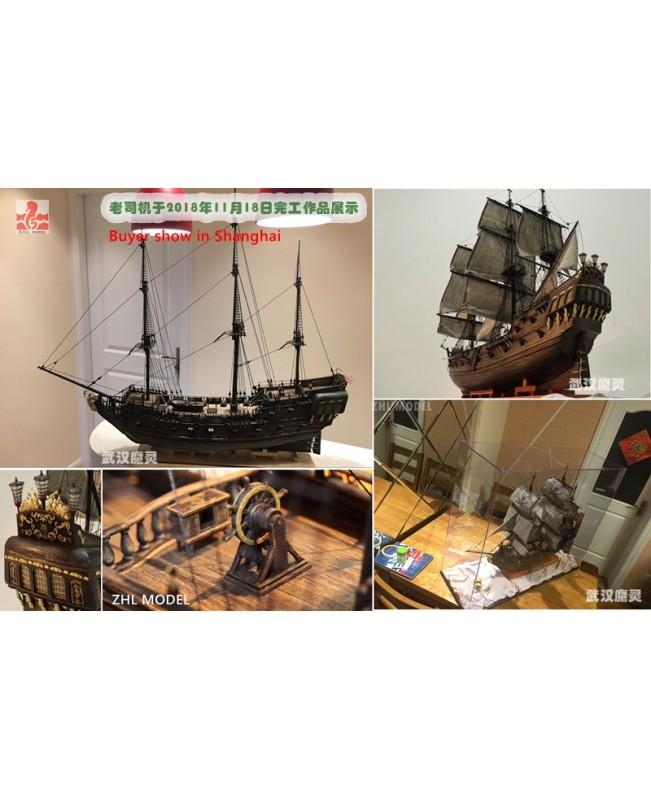 The black Pearl Golden version 2019 wood model ship kit 31 inch