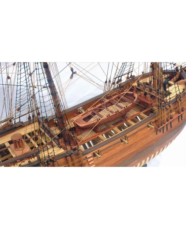 "HMS Druid 1766 (Pear Wood Version) Scale 1/50 900mm 35.4"" Full Rib Model Ship Kit"