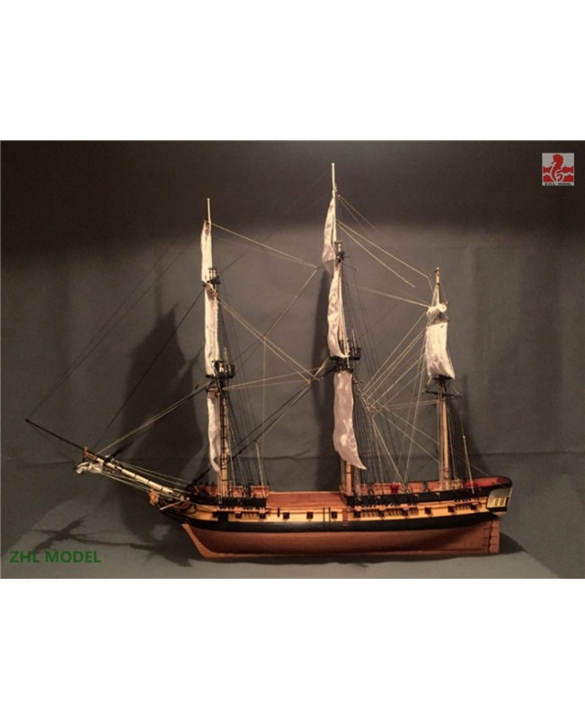 "HMS Surprise Scale 1/48 56.9"" with 4 lifeboat  Wood Model Ship Kit"
