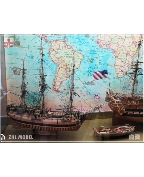 HMS Druid 1766 (2020 cherry  version) Scale 1/...