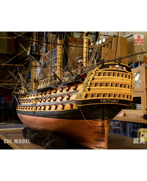 """HMS VICTORY 1805 Scale 1/96 1032mm 40"""" Wood m..."""