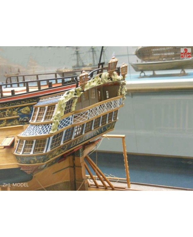 HMS Bellona Scale 1/48 L:1250mm (3-4 SESSION ) Battleship Wooden Ship Model Kit