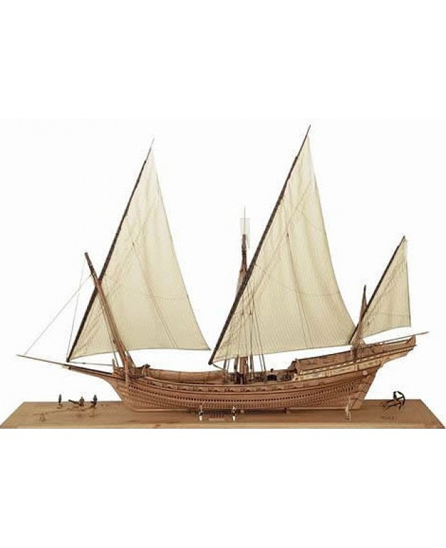 "LE REQUIN 1750 Full Rib Pear Version Scale 1/48 47.6"" Wood Mdoel Ship Kit"