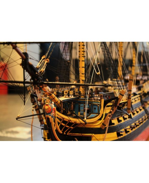 "HMS Victory 1805 54.5"" Scale 1/72 1385mm Wood..."