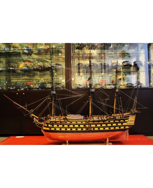 "HMS Victory 1805 54.5"" Scale 1/72 1385mm Wood Model Ship Kit"