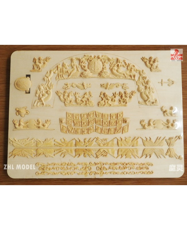 "INGERMANLAND 1715 Scale 1/50 51.3"" boxwood carving upgrade Model Ship Kits"
