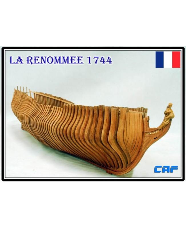 La Renommee 1744 Part1- 4 Scale 1/48 1230 mm Admiralty model Wood model ship kit