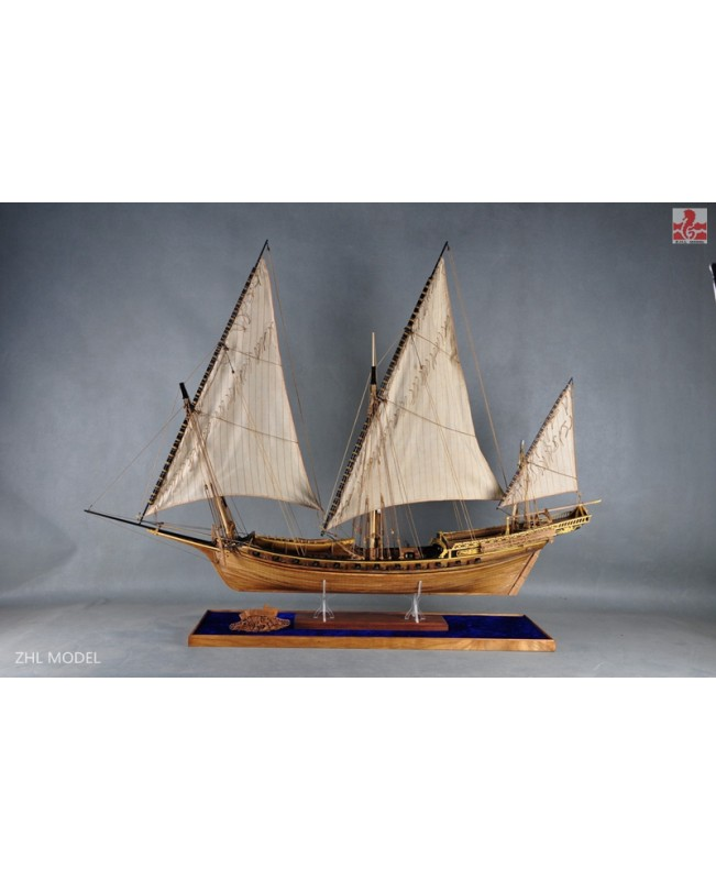 "LE REQUIN 1750 (Brand:Luhaiqingkong) Full Rib Version and liftboat 1/48 47.6"" Model Kit Ship"